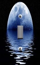 Light Switch Plate & Outlet Covers Solar System Blue Moon Over Ocean Water