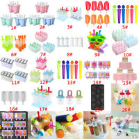 Silicone Block Pole Lolly Frozen Mould Tool Maker Mold Ice Cream Popsicle DIY