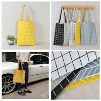 1pc Charm Canvas Shoulder Shopping Handbag Tote Satchel Eco Messenger Square Bag