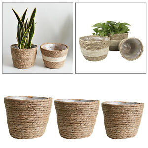 Rustic Handmade Woven Natural Seagrass Basket Made From Rattan
