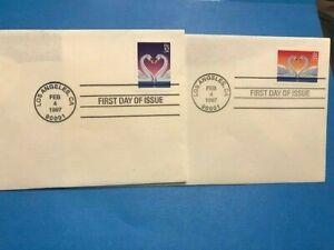 #3123 #3124a 1997 FDC LOVE White Swans L991 PM Los Angeles CA