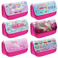 Personalised Girls UNICORN Pencil Case School Pink Stationary Bag Cute Gift