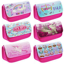 Quadra Personalised Zip Pencil Case Kids School Unicorn For Boys Girls Adults