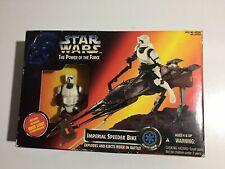 """1995~Star Wars~""""Imperial Speeder Bike/Exclusive Biker Scout""""~TPOTF~Kenner~New"""