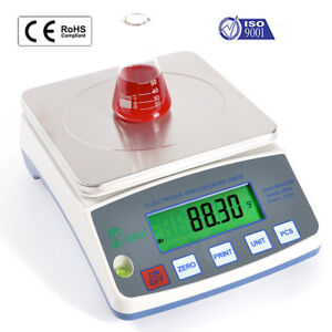 Precision Lab Balance 10000g x 0.1g Weigh-Below Hook Tare Scale  Precision