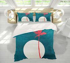 3D Moon Red Tree A049 Bed Pillowcases Quilt Duvet Cover Boris Draschoff Zoe