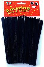Amazing Arti e Mestieri BLACK PIPE CLEANERS CINIGLIA STELI 150mm x 4 mm 100pcs