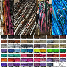 CUSTOM SYNTHETIC DREADLOCKS DREADS FULL HEAD X 80 - WRAPS & BEADS EXTENSIONS