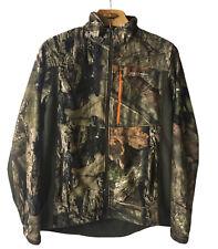 Field And Stream Mossy Oak Camo Jacket Mens M Zip NoScent C3 Hunting Fishing