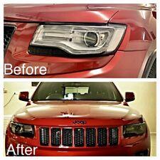 Fits Jeep Grand Cherokee 2014+ Headlight Laminate Tint Diecut Kit Light Smoke