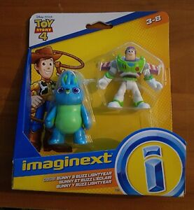 Toy Story 4 Imaginext Buzz Lightyear & Bunny Fisher Price Action Figure Toys New