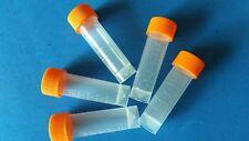 10pcs 5ml Plastic Test Tubes Vial Screw Seal Cap Pack Container