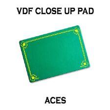 VDF GREEN Printed with Aces Magicians Matt Pad Mat card close up Magic trick
