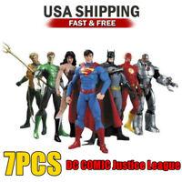 7Pcs LOT DC Justice League Action Figure Toy Superman/Batman/Flash/Wonder woman