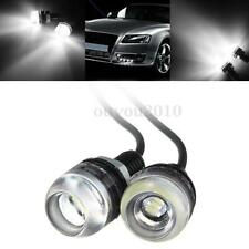 2x 10W 3 LED Eagle Eye White Car Back Up Reverse Daytime Running Lamp Light DRL