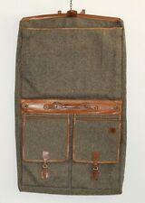 Hartmann Luggage Tweed & Leather Garment Bag Vintage Carry On