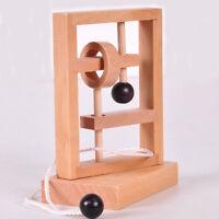Desk 3D Wooden Rope Loop Puzzle Brain Teaser  Challenge Game Adult Kid Toy J