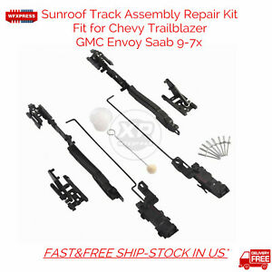 New Sunroof Track Assembly Repair Kit For Chevy Trailblazer GMC Envoy Saab 9-7x