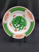 "Vintage 4 Fitz and Floyd Green Dragon Crest Salad Plates - 7 1/2"" 1975"