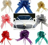 "Pre Assembled Wedding Car Kit 3 x 50mm Pull Bows & 7 Metres 2"" Poly Ribbon"
