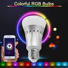 E27 Smart LED Bulb WiFi App Control Wireles Changing Amazon Alexa Echo Dot Light