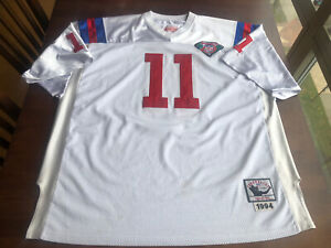 Drew Bledsoe 1994 New England Patriots #11 Jersey Mitchell & Ness SZ 56