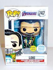 Marvel Avengers Endgame Loki with Tesseract GITD 747 LE Funko with Protector