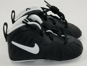 NIKE LIL' POSITE ONE (CB) INFANTS' CRIB BOOTIE BLACK/ 643145-006 Dr Doom SZ 4C