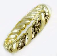 Designer Style Gold Hinged Dot Pattern Bangle Bracelet Women Fashion Jewelry