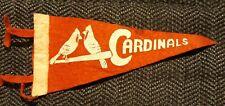 RARE 1940s? Souvenir St. Louis Cardinals Mini Baseball Pennant 2 Cardinals onBat