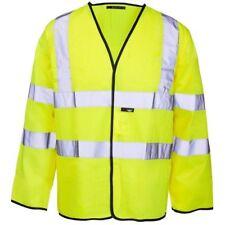 ST Supertouch High Vis Yellow Hi Vis Long Sleeved Vest Medium Workwear PPE