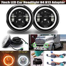 For Kenworth T2000 7 Inch LED Headlight DRL Hi/Lo Beam Light Lamp H4 H13 Pair