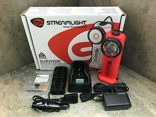 Streamlight 90503 Survivor LED Rechargeable Flashlight  Orange - AC & DC Cords