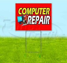 COMPUTER REPAIR 18x24 Yard Sign WITH STAKE Corrugated Bandit BUSINESS ELECTRONIC