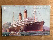 Vintage Postcard, Steamship, Laurentic, White Star Line, Early View