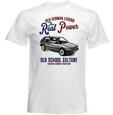 VINTAGE TEDESCO AUTO VOLKSWAGEN GOLF II reale Potere-Nuovo T-shirt di cotone