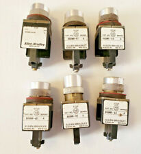 Lot of 6 Allen Bradley Assorted Pushbuttons/Switches