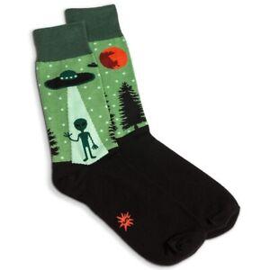 Sock It To Me, I Believe, Men's Crew Alien Socks, Novelty Socks, Men's Shoe 7-13