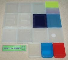 Bundle of 16 plastic game cases for Nintendo gameboy playstation memory card DS