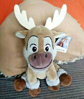 "Disney 2 II Frozen Sven 10"" Plush Soft Toy Reindeer Anna Elsa Olaf"
