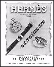 PUBBLICITA'1939 HERMES OROLOGI WATCHES MODA LUSSO GIOIELLI BIARRITZ CANNES PARIS