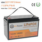 Rechargeable 12V 100Ah lithium LiFePO4  battery for RV Deep Cycles Solar System