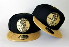New Era 1 Cent Penny snapback hat Nike Foamposite Metallic Gold Foam