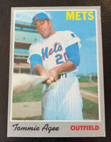 1970 Tommie Agee New York Mets NY Topps Baseball Card