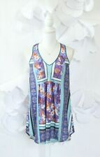 Anthropologie Dream Daily Floral Knit Tank Top Womens S Sleeveless Lounge Casual