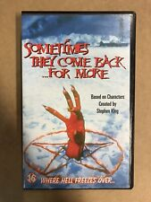 Sometimes They Come Back For More  VHS Tape English with dutch subs