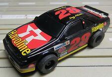 para H0 coche slot racing Maqueta de tren NASCAR N º 28 con TYCO CHASIS