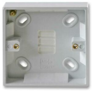 16mm Single 1 Gang Surface Mount Slim Pattress Back Box Wall Socket Light Switch