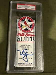 Mark McGwire Autographed Ticket PSA/DNA Career HR #504 Cardinals vs Cubs 8/14/99