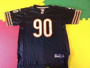 Julius Peppers Chicago Bears #90 Reebok On Field NFL Black Youth Size XL 18-20